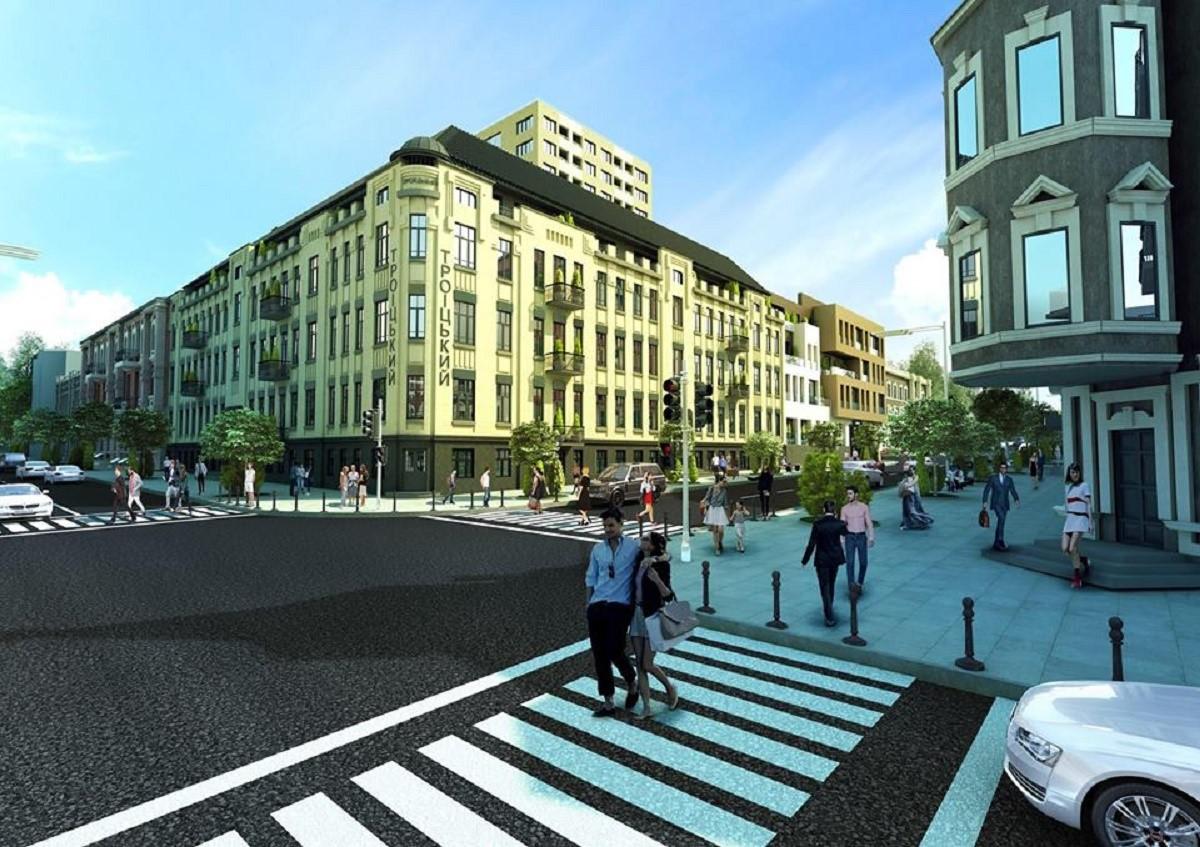 такий вигляд матиме будівля за адресою троїцька 5 в Дніпрі після реконструкції